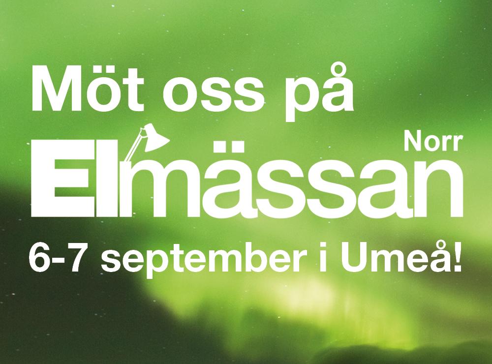Möt Elektroskandia/Cebe Belysning på Elmässan Norr 6-7 september